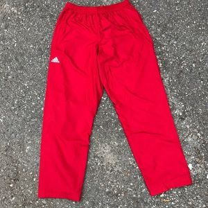 NWT Adidas Climaproof Track Pants Sweatpants Red